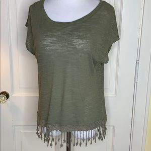 Aeropostale Olive Green burnout top Size Small